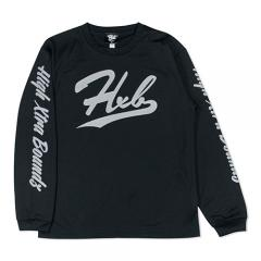HXB DRY Long Sleeve Tee 【UNDER LINE】 BLACK×REF