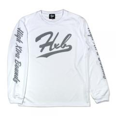 HXB DRY Long Sleeve Tee 【UNDER LINE】 WHITE×REF
