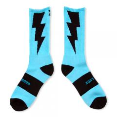 "HXB 【GOOD LUCK SOCKS】  ""雷"" TURQUOISE×BLACK"