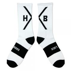 "HXB 【GOOD LUCK SOCKS】 ""X OVER"" WHITE×BLACK"