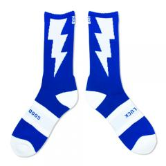 "HXB 【GOOD LUCK SOCKS】 ""雷"" BLUE×WHITE"