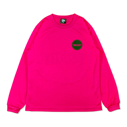 HXB DRY Long Sleeve Tee 【THE CIRCLE】 MAGENTA×BLACK