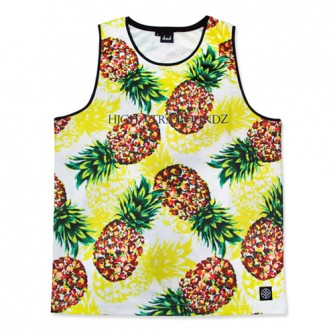 HXB Graphic Mesh Tanktop【PINEAPPLE】