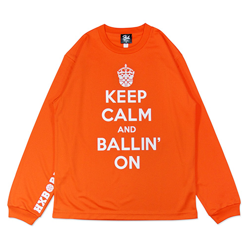 HXB DRY Long Sleeve Tee 【KEEP CALM】 ORANGE
