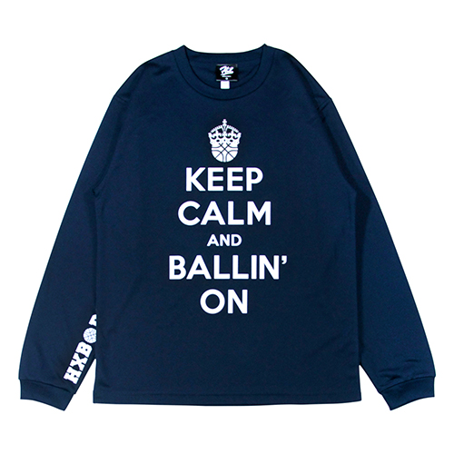 HXB DRY Long Sleeve Tee 【KEEP CALM】 NAVY