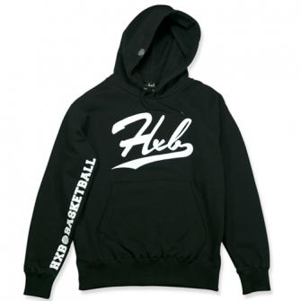 HXB HOODIE 【UNDER LINE】 BLACK×WHITE