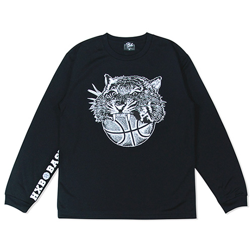 HXB DRY Long Sleeve Tee 【TIGER BALL】 BLACK