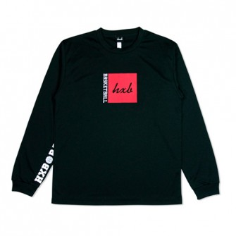 HXB DRY Long Sleeve Tee 【BOX LOGO】 BLACK