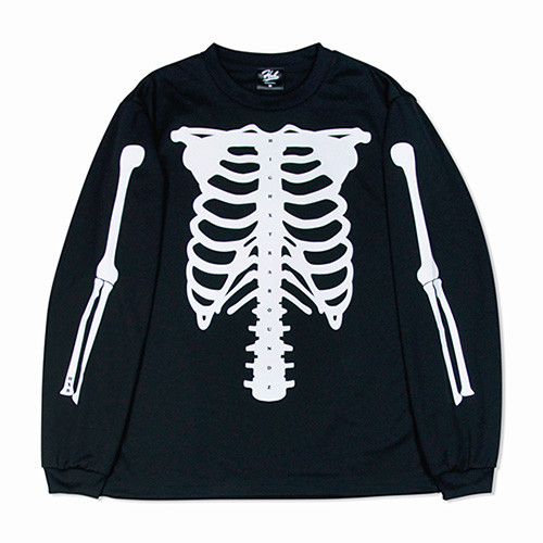 HXB DRY Long Sleeve Tee 【SKELETON】 BLACK×WHITE