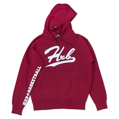 HXB HOODIE 【UNDER LINE】 BURGUNDY×WHITE
