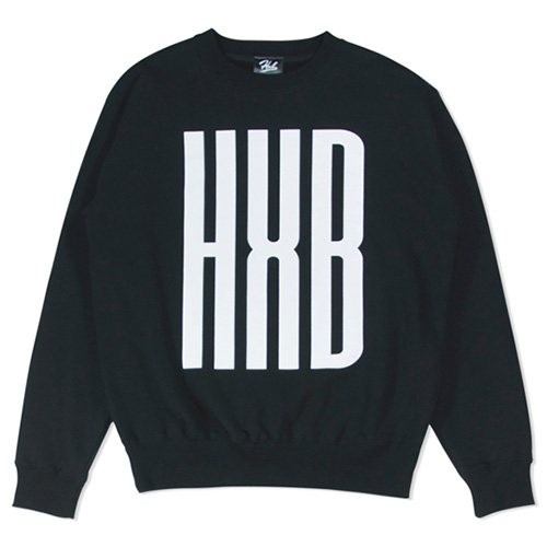 HXB SWEAT CREW NECK 【SLENDER】 BLACK