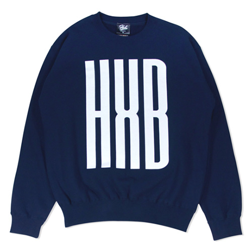 HXB SWEAT CREW NECK 【SLENDER】 NAVY