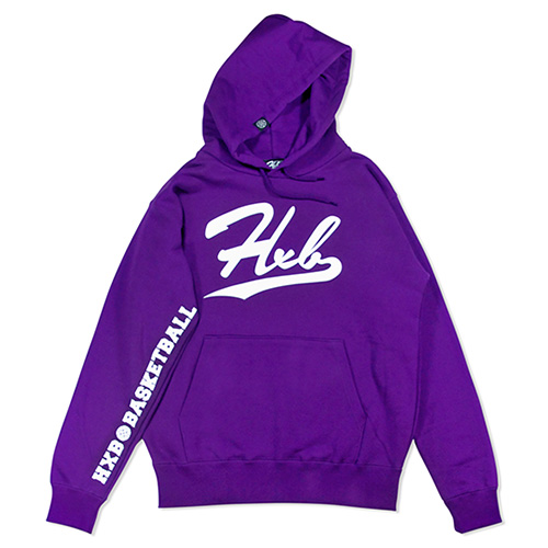 HXB HOODIE 【UNDER LINE】 PURPLE×WHITE