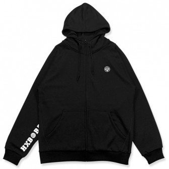 HXB 【SWEAT ZIPUP】 BLACK