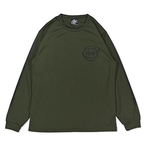 HXB DRY Long Sleeve Tee 【Marker】 OLIVE×BLACK