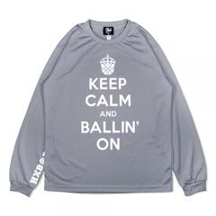 HXB DRY Long Sleeve Tee 【KEEP CALM】 GRAY