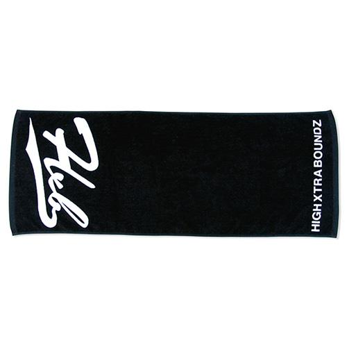 "HXB 【SPORTS TOWEL】 ""UNDER LINE"" BLACK×WHITE"