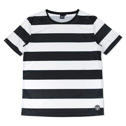 DRY MESH TEE 【THE BOARDER】 BLACK×WHITE