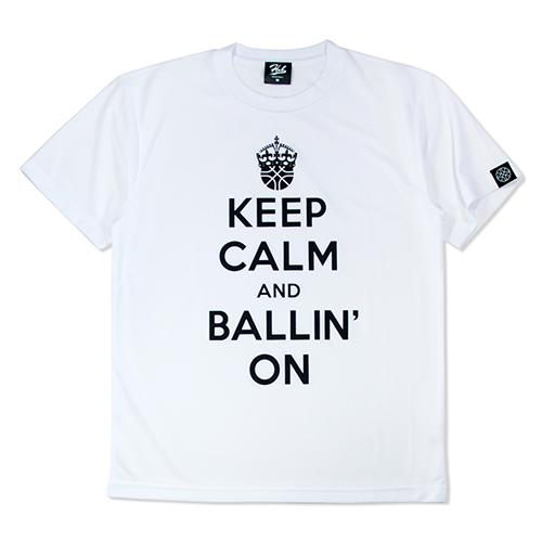 HXB ドライTEE 【KEEP CALM】 WHITE×BLACK