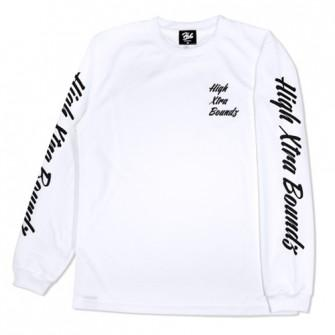 HXB DRY Long Sleeve Tee 【Calligraphy】 WHITE
