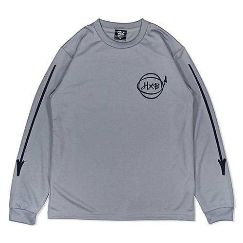 HXB DRY Long Sleeve Tee 【Marker】 GRAY×BLACK