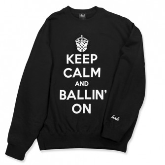 HXB SWEAT CREW NECK 【KEEP CALM】 BLACK