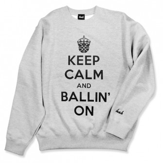 HXB SWEAT CREW NECK 【KEEP CALM】 GRAY