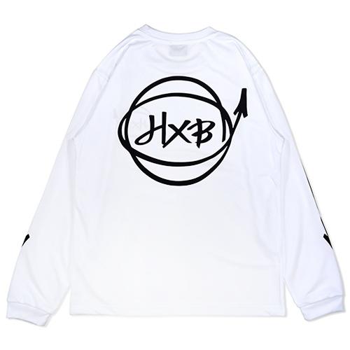 HXB DRY Long Sleeve Tee 【Marker】 WHITE×BLACK