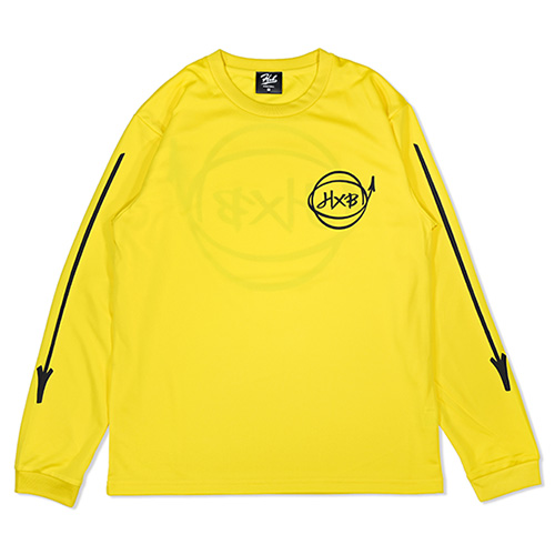 HXB DRY Long Sleeve Tee 【Marker】 GOLD×BLACK