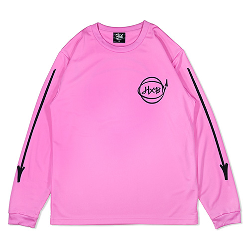 HXB DRY Long Sleeve Tee 【Marker】 PINK×BLACK
