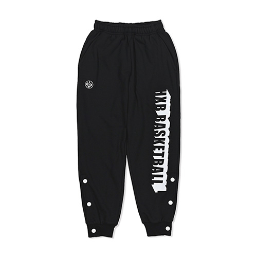 HXB SWEAT PANTS 【BEVEL LOGO】 BLACK (XS)
