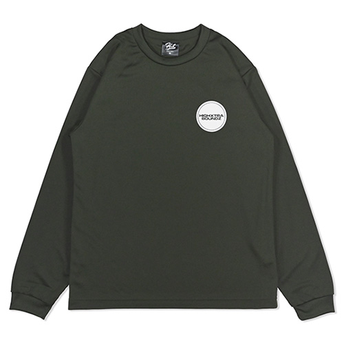 HXB DRY Long Sleeve Tee 【THE CIRCLE】 OLIVE×WHITE