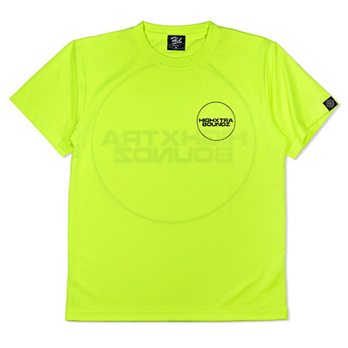HXB ドライTEE 【THE CIRCLE 2.0】 NEON YELLOW×BLACK