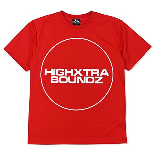 HXB ドライTEE 【F/S CIRCLE】 RED×WHITE