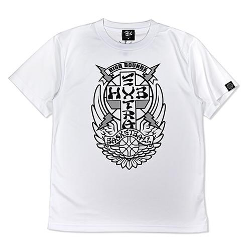 HXB ドライTEE 【CHROSS】 WHITE×BLACK+REF