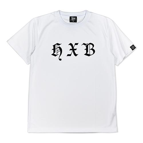 HXB ドライTEE 【Blackletter】 WHITE×BLACK