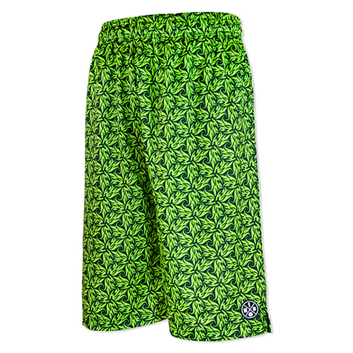 HXB Graphic Mesh Pants 【LUDSCHI】 Grass Wide Bermuda