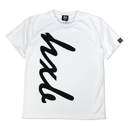HXB ドライTEE 【HUGE LOGO】 WHITE×BLACK