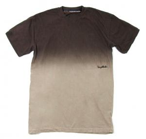 HUGEBLOCKS 【Gradation DYED T-shirt】 BROWN