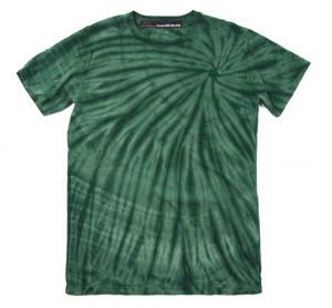 HUGEBLOCKS 【Spiral DYED T-shirt】 GREEN