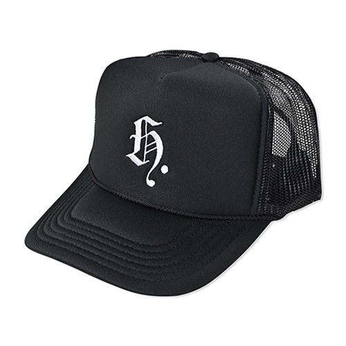 HXB MESH CAP 【Blackletter】 BLACK