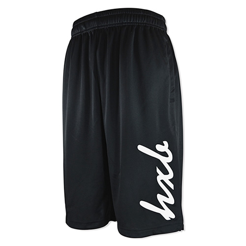 HXB PRACTICE PANTS 【CURSIVE】 BLACK×WHITE