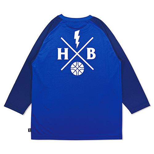 HXB DRY CUTOFF SLEEVE TEE 【XOVER】 BLUE/NAVY