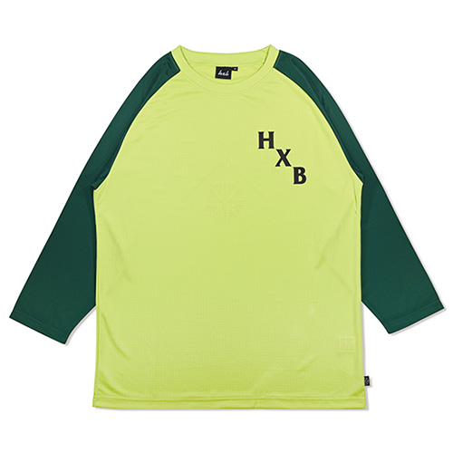HXB DRY CUTOFF SLEEVE TEE 【XOVER】 LIME/GREEN