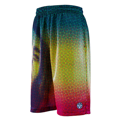 HXB Graphic Mesh Pants 【RASTA DOTS】