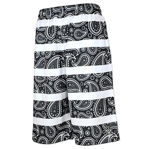 HXB Graphic Mesh Pants 【Paisley Border Black】
