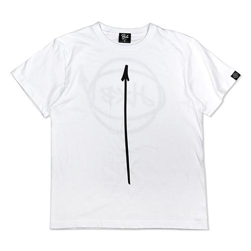 HXB コットンTEE 【Marker】 WHITE×BLACK