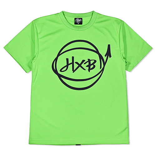 HXB ドライTEE 【Marker】 LIME×BLACK