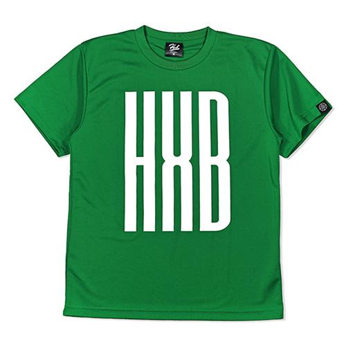 HXB ドライTEE 【SLENDER】 GREEN×WHITE