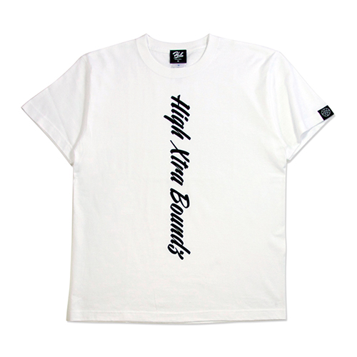 HXB コットンTEE 【CALLIGRAPHY】 WHITE×BLACK